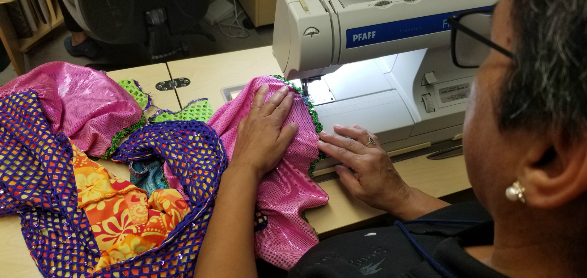 Costumer Sewing Costume